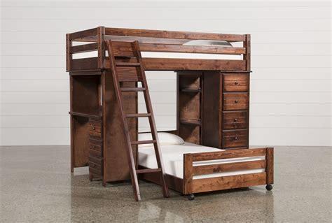 loft bed with desk sedona twin twin loft bunk w chest desk living spaces