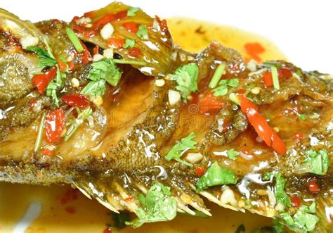 grouper chili banded fried dressing sauce fish deep sweet