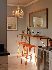 Küche Selber Zusammenstellen Günstig : einfacher bartresen aus holzplatte an der wand befestigt k che pinterest holzplatte w nde ~ Buech-reservation.com Haus und Dekorationen