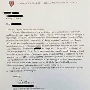 Funny College Rejection Letter Genius