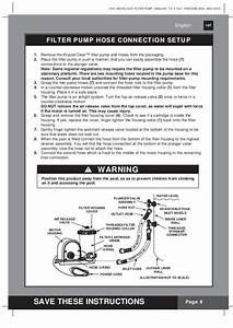 Krystal Clear Model 635t Filter Pump Manual