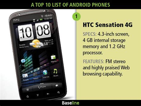 list of android phones a top 10 list of android phones mobile and wireless