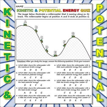 worksheet kinetic  potential energy   travis terry tpt