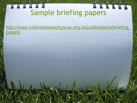briefing papers