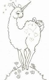 Alpaca Llama Coloring Drawing Pages Lesson Printable Printables Getdrawings sketch template