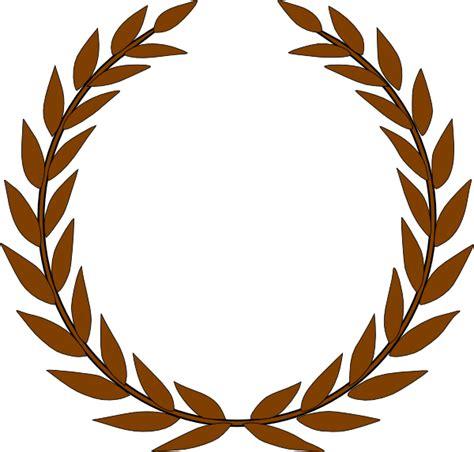 olive wreath brown clip art  clkercom vector clip art