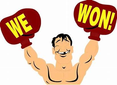 Won Clipart Clip Victory Cartoon Transparent Champion