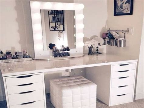 makeup vanity set with lighted mirror white wooden makeup vanity set with lighted mirror of