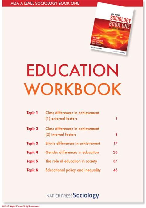 napier press sociology book  workbooks sociology