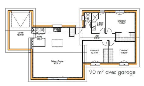 plan maison plain pied 100m2 3 chambres plan maison plain pied 100m2 3 chambres charmant
