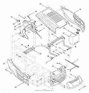Mtd 13a7668h352  2003  Parts Diagram For Hood Style 8