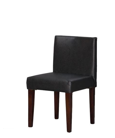 denzel walnut wood low back dining chair leather flannel jpg