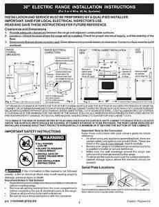 Kenmore 30  U0026quot  Electric Range Installation Instructions Pdf