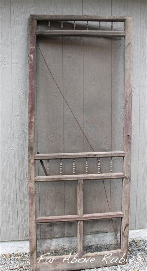 hometalk repurposed vintage screen door