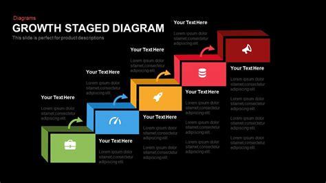 growth staged diagram powerpoint and keynote template slidebazaar