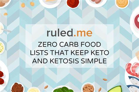 ultimate  carb foods list     ketosis
