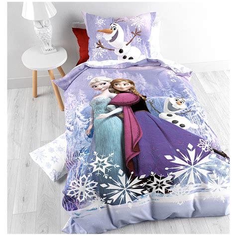 reine des neiges housse de couette frozen reine des neiges parure de lit housse de couette 140 x 200 cm mauve frozen
