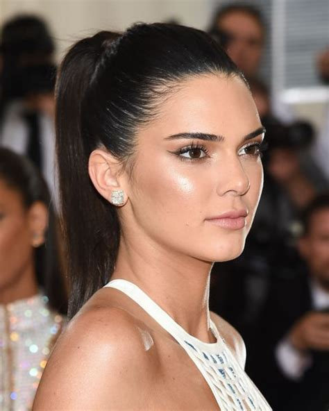 ponytail hairstyles hair ponytails low hairstyle jenner side pony tail updo kendall easy dark elle messy casual part kylie inspire