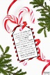 Candy Cane Poem - Free Printable Gift Tag for Christmas ...