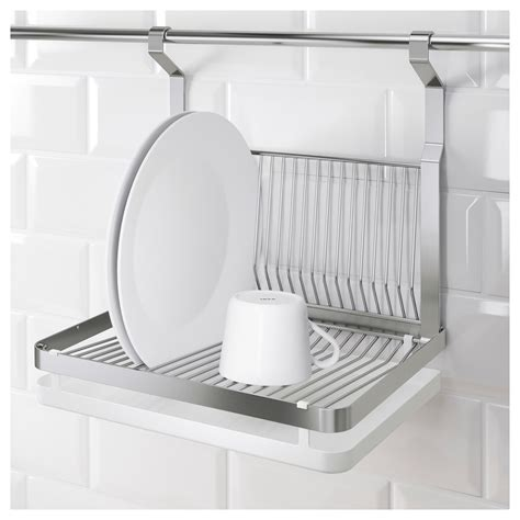 dish drainer rack grundtal dish drainer stainless steel 35x26 cm ikea