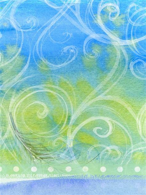 illustration background abstract swirls green