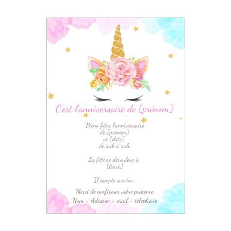 Gog fête ses 10 ans et nous offre un cadeau d anniversaire. Carte Invitation Anniversaire Enfant Rose Fille gratuit à imprimer (carte 2618)
