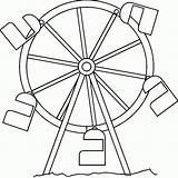 Ferris Wheel Coloring Circus Drawing Pages Printable Simple Wheels Sketch Template Disney Templates Return Main Coloring2print sketch template
