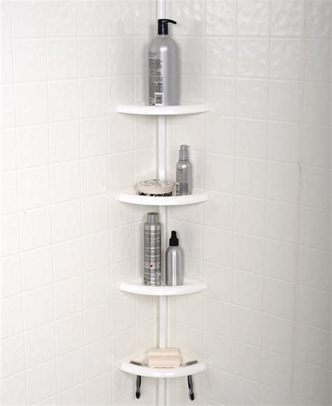zenith products tub  shower tension pole caddy  shelf