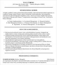Professional Banking Resume Template by Professional Resume Sles 9 Free Word Pdf Documents