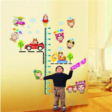 happy cute babies grow  printed height chart wall