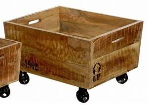 Box Mit Rollen : holz box mit rollen landhaus deko objekt rollwagen aufbewahrung antike optik ~ Markanthonyermac.com Haus und Dekorationen