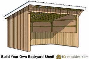 Free Loafing Shed Plans For Horses by Run In Shed Plans Building Your Own Horse Barn Icreatables