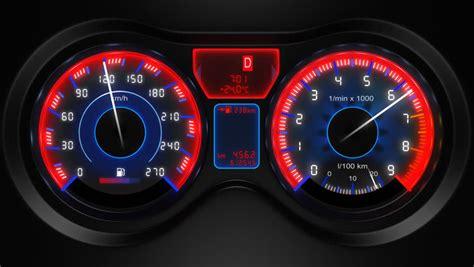 car panel instrument speedometer  tachometer hd loop