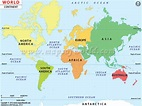 Continents of the World, Map of Continents
