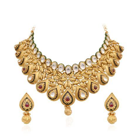 necklaces elegant antique handmade pear shape chokker gold necklace grt jewellers