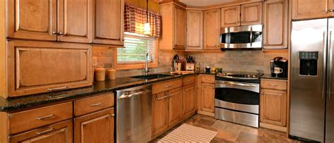 budget cabinets agawam ma bainbridge door style in maple finished in butterscotch