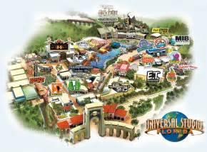 2017 Park Universal Studios Orlando Map