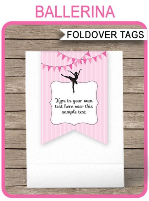 ballerina favor tag toppers ballerina theme   tags