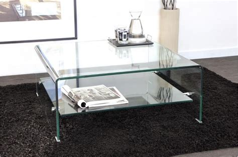 table basse carr 233 e en verre transparent otta table basse pas cher