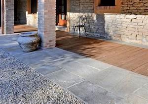 Terrasse Mit Kies : steinplatten f r terrasse verlegen terrassenplatten ~ Markanthonyermac.com Haus und Dekorationen