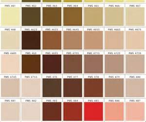 Brown Pantone Color Chart