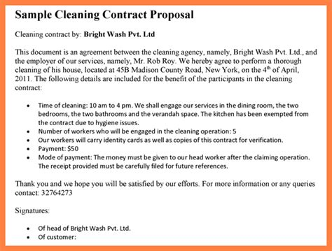 cleaning service proposal template  piece