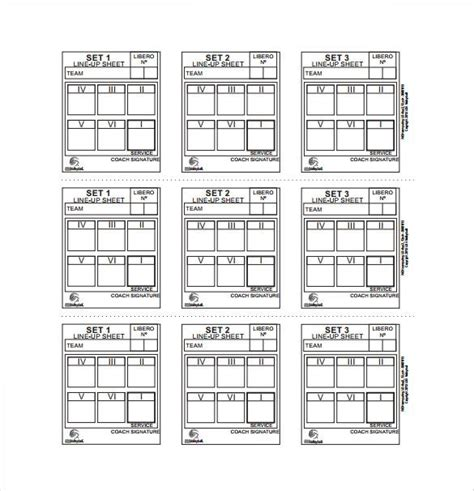 volleyball lineup sheets printable proposal technology