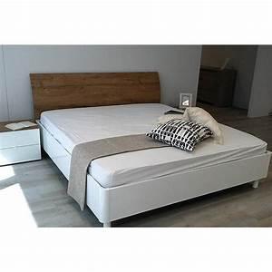 Lit Adulte Blanc : lit adulte roma blanc 160cm ~ Teatrodelosmanantiales.com Idées de Décoration