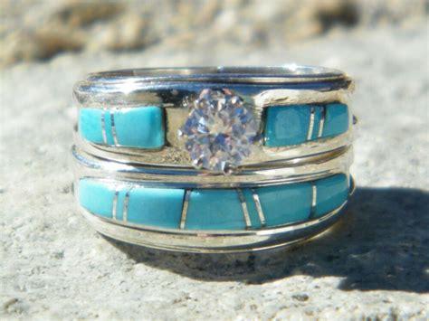 navajo wedding ring native american indian navajo wedding rings band turquoise