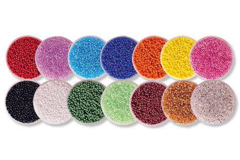 perle de rocaille perles de rocaille set de 14 boites perles de rocaille