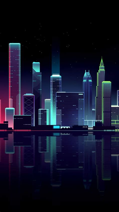 Abstract Cityscape Wallpaper by Cityscape Buildings Colorful Illustration