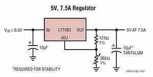 Lt1083 5v  7 5a Regulator Circuit Collection