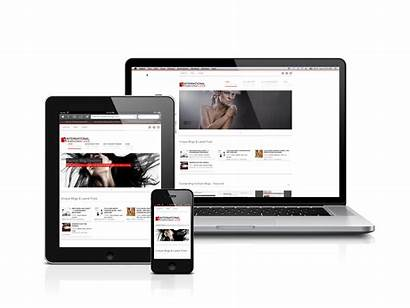 Responsive Web Mobile Showcase Devices Site Many