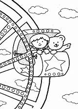 Coloring Carnival Pages Wheel Ferris Fair Rides State Watching Printable Come Getcolorings Friends Pa Popular sketch template